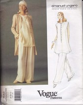 Vogue Paris Original 1543 Pants, Tunic and Jacket by Emanuel Ungaro Sz. ... - $13.85