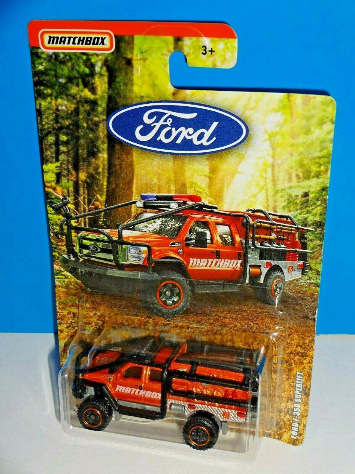 Matchbox 2019 Ford Truck Series Ford F-350 SuperLift Orange