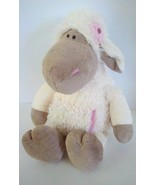 "Nici Sheep Soft Plush Stuffed Animal Doll 19"" 48cm w/ Front Pocket Flower VGC - $9.89"