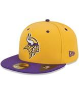 New Era Minnesota Vikings 2Tone 59FIFTY Fitted Hat - Gold NWT Size 7  - $25.73