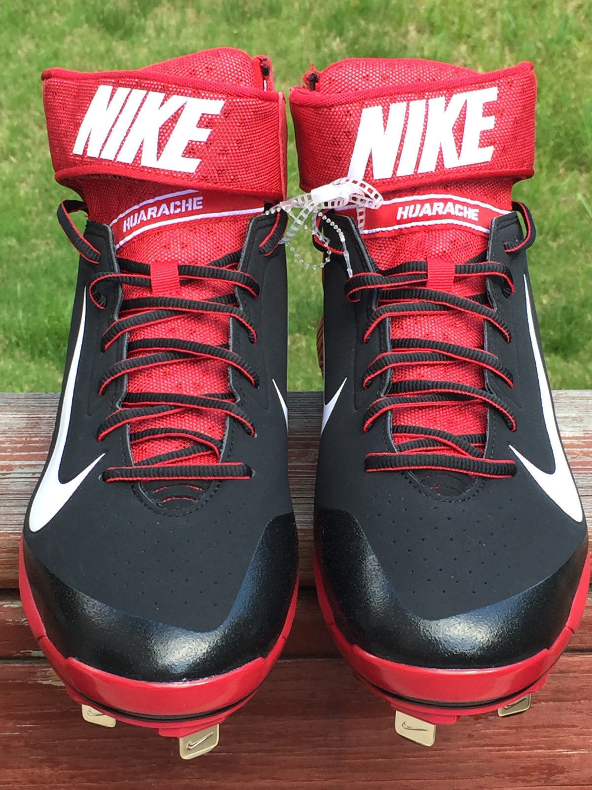cheap for discount f7bbb 0fc4c 57. 57. Previous. Size 16 Nike Air New Huarache Baseball Cleats Shoes Pro  Mid Metal Red RSN42616. Size 16 ...