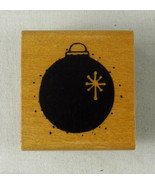 """DOTS Rubber Stamp E176 Christmas Tree Bulb 1.5"""" Holiday Decoration - $3.89"""