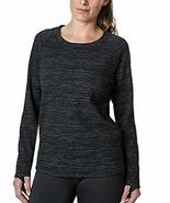 Kirkland Signature Ladies' Crew Pullover, Black Heather, Size L - $14.84