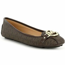 NWB Michael Kors Fulton MK Signature Moccasin Brown Shoes sz 6.5;7.5;8;8... - $89.99