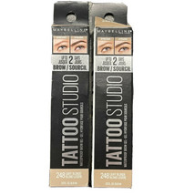 2 - Maybelline Tattoo Studio Waterproof Brow Gel #248 Light Blonde - New - $10.32
