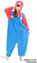 Super Mario Brothers Mario costume unisex one-size-fits-all from Japan New - $103.00