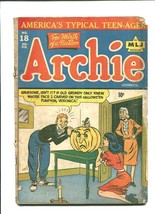 Archie 18-1945-HALLOWEEN COVER-CARVING Pumpkin G/VG - $242.50