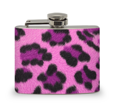 4 oz Leopard Pink Flask - $7.98