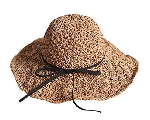 Gentle Meow Parent-Child Straw Hat Summer Beach Sun Hat Foldable Travel Hat For
