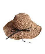 Gentle Meow Parent-Child Straw Hat Summer Beach Sun Hat Foldable Travel ... - £16.65 GBP