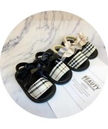 Black and Apricot Leather Girls Sandals Summer Girls Soft Bottom Sandals... - $16.99