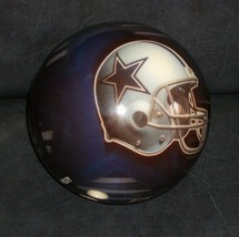 VTG BRUNSWICK 10# BOWLING BALL RUSTY VIZ-A-BALL DALLAS COWBOY TEXAS STAR... - $85.00