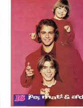 Joey Lawrence teen magazine pinup clipping Melissa and Joey Blossom Tiger Beat