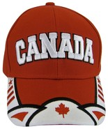 Canada Men's 2-Tone Curved Brim Adjustable Baseball Cap Red/White - $11.95