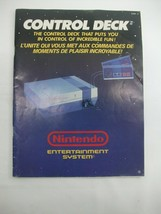 Control Deck Nintendo NES Vintage Video Game Booklet Instruction Manual ONLY - $7.94
