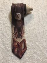 Ralph Marlin Harley Davidson Touchdown Eagle Vintage Novelty Tie Necktie - $25.73