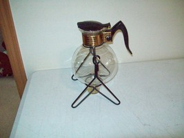 vintage Cory 8 cup Coffee & Tea maker warmer carafe with candle base & c... - $11.88