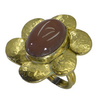 charming Dichroic Glass Gold Plated Multi Ring genuine generally US gift - $7.74