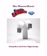CHEAP CZ Huggie Pave' Huggie Earrings Silver Plate CHEAP! - $7.25