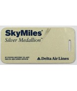 VTG Collectible Delta Airlines Travel Skymiles Silver Medallion Luggage ... - $16.65