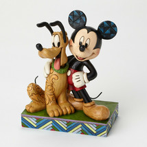 "6"" ""Best Pals"" Mickey Mouse & Pluto Figurine - Jim Shore Disney Traditions"