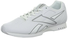 NEW REEBOK ALPHACHEER WOMEN'S CHEERLEADING SHOE V53946 WHITE/SILVER SIZE 4 - $39.99