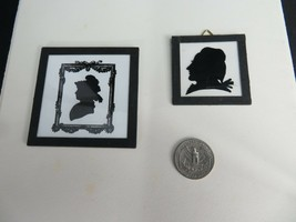 Rare vintage silhouette pair of Art Deco German made pictures - $50.00