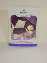 Hallmark 1998 Peanuts Charlie Brown flying Kite Going Up?  Keepsake Orna... - $12.86