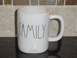 Rae Dunn FAMILY Mug, Ivory with Black Lettering - $12.00