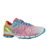 Asics Gel Kinsei 5 White Teaberry Yellow T3E9Y 0122 Womens Running Shoes