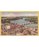 Connecticut River and Bridge Hartford Connecticut United States Vintage PC - $4.00