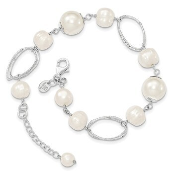 Primary image for Lex & Lu Sterling Silver Freshwater Cultured Pearl Bracelet 8.5""