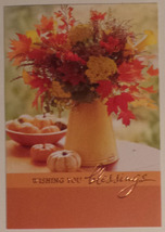 "Greeting Thanksgiving Card ""Wishing you Blessings"" - $1.50"