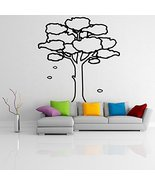 ( 20'' x 19'') Vinyl Wall Decal Large Tree with Branches & Leaves / Natu... - $21.12