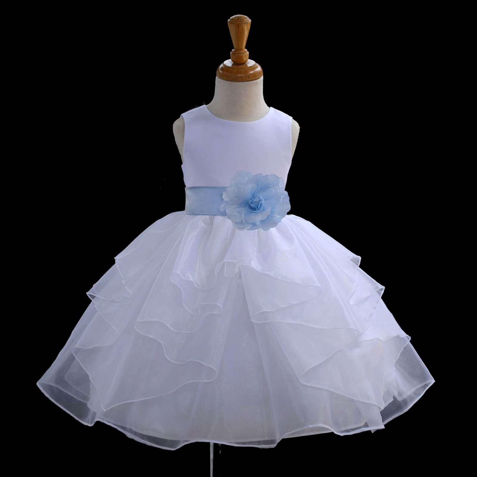 White organza flower girl dress christmas easter holiday wedding