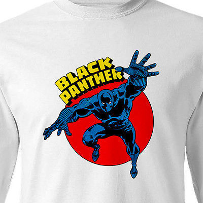 The Black Panther Long Sleeve T shirt Marvel Comics 100% cotton graphic tee