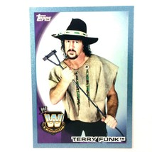 WWE Terry Funk 2010 Topps Card #104 Blue Serial Numbered Parallel  - $2.92