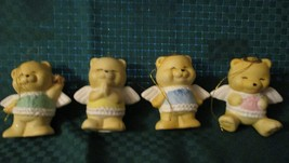 "Vintage Angel Bear's Christmas Ornament Made in Taiwan 2 3/4"" Ceramic Se... - $25.00"