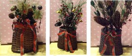 Basket Of Pine Cones and Berries Arrangement's For Your Shelf or Wall 3 ... - $18.00