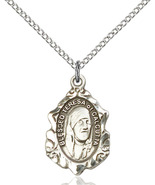 Sterling Silver Blessed Teresa Of Calcutta Medal Necklace For Women 0812SS/18SS - $46.00