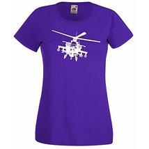 Womens T-Shirt Army Helicopter, War Machine Guns Shirts, Military Copter Shirt - $24.49