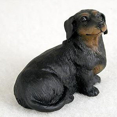 DACHSHUND (BLACK) TINY ONES DOG Figurine Statue Pet Lovers Resin Doxie