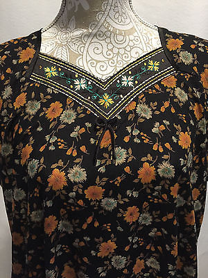 Sleeping Story Women Kurta Boho Chic Hippy Sun Dress Tunic Indian Cover Up Sz 4