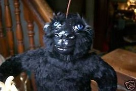 BLACK SEA MONKEY ooak seahorse gorilla mermaid art doll handmade polymer... - $41.58