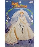 Fibre Craft Royal Princess Crochet Wedding Dress Pattern FCM 488 1998 - $9.97