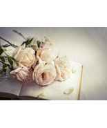 Romancebook with roses thumbtall