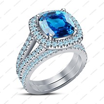 Disney Princess Snowflake Jewelry 925 Silver Engagement Bridal Ring Set 14k Whit - $77.39