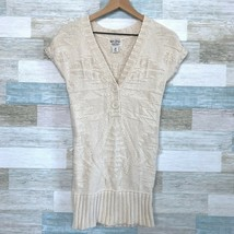 Polo Jeans Ralph Lauren Chunky Knit Tunic Sweater Beige Slim Fit Womens ... - $28.70