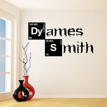 (79'' x 39'') Custom Personalized Vinyl Decal Text in Breaking Bad Style / Na... - $90.96