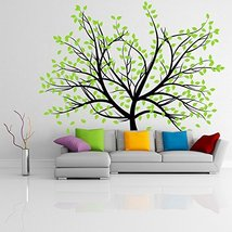 (94'' x 77'') Vinyl Wall Decal Colorful Huge Tree with Branches & Falling Lea... - $176.75